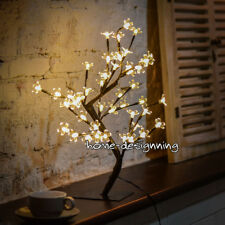 Warm White Pre-Lit LED Light Up Cherry Blossom Bonsai Tree Outdoor Indoor Garden