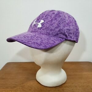 Womens Under Armour Heat Gear Running Workout Athletic Adjustable Cap Hat Purple