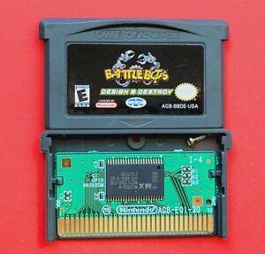 BattleBots Design & Destroy Nintendo Game Boy Advance *Cleaned & Tested