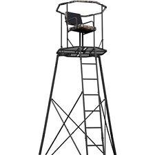 Hunting Shooting 300lbs Ladder Tripod Tree Stand 15' w/ RealTree Camo 360* Seat
