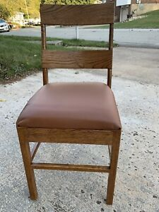 NEW organic Real Oak WOOD  And Cowhide  LEATHER CHAIR LODGE MODERN