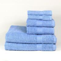 6 Piece 100% Cotton Towel Set - Color Options - Bath Hand and Face Towels