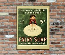 """FAIRY SOAP aged 10x8"""" Retro Vintage Metal Sign Advertising Wall Art Pic"""