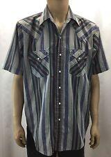 Sly Plains Multi Color Plaid Short Sleeve Shirt Mens Size M