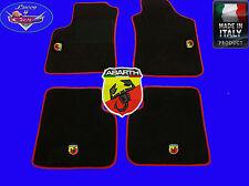 TAPPETINI tappeti Nuova FIAT 500 2007-2009 abarth logo su misura ricamati