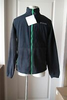Mens Columbia Sportswear Full Zip Black Fleece Jacket NWT $90 M