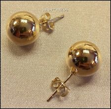CLASSIC GOLD BALL LARGE 12 MM STUD EARRINGS NEW USA SELLER