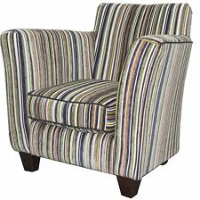 TUB CHAIR PURPLE STRIPE PATTERN LUXURY CHENILE FABRIC