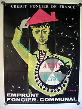 Affiche Emprunt CREDIT FONCIER  FRANCE Ann.'60 illustr. BENOIT