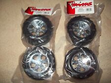 Traxxas Stampede XL-5 / VXL Talon Tires & All-Star Chrome Wheels 3668 3669