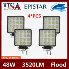 4X 48W Square LED Work Light Flood Lamp Ford Offroad Truck Tractor Boat 18W/27W