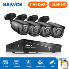 Sannce 4Ch Hd 1080P Cctv Security Camera System Dvr Outdoor Video Surveillance