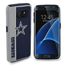 Samsung Galaxy S7 EDGE Dallas Cowboys Bold Dual Hybrid 2 Piece Case NFL