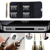 25 in1 Präzisions Schraubendreher Set Reparatur Werkzeuge für Handy Uhr Brille