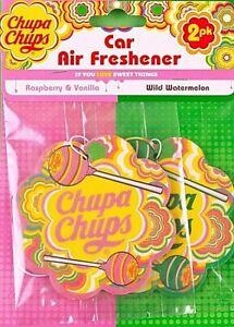 Car Air Freshener Chupa Chups x 2   1 Rasberry & Vanilla, 1 Wild Watermelon