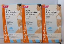3 Lot Sally Hansen Pure Scent-sation Hair Remover Creme For Body  5.3 oz