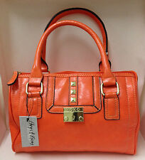 NEW! AUTHENTIC XOXO DIZZY ORANGE BOWLER SATCHEL BAG PURSE $59 SALE