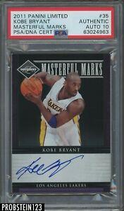 Kobe Bryant Signed 2011-12 Limited Masterful Marks 4/50 PSA PSA/DNA 10 AUTO