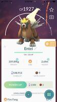Pokémon GO Shiny ✨ Entei ✨ 30 DAY TRADE or REGISTERED - best eBay price!!$$$$🔥