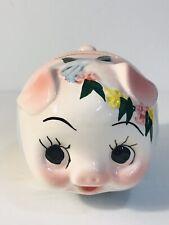 Vintage Pink Piggy Bank Ceramic Las Vegas