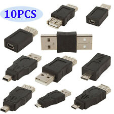 10pcs Set OTG 5pin F/M Changer Adapter Converter USB Male to Female Micro USB