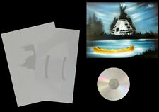 Step by Step Airbrush Schablone / Stencil 0586 Indianerlandschaft &Anleitungs CD