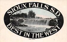 F71/ Sioux Falls South Dakota Postcard c1910 Fancy Best in West