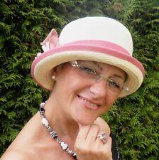 Chapeau pour Femmes de Panama Cloche Occasions Mariage Soleil Léger Porter