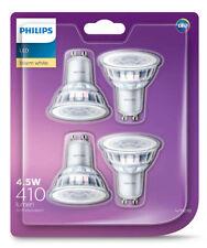 4 x Premium Philips LED Downlight Globes / Bulbs 4.5W 240V GU10 Warm White 3000K