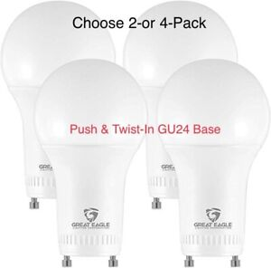 Great Eagle A19 GU24 LED Bulb Dimmable 100W Replacement, 2700K/3000K/4000K/5000K