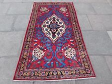 Old Hand Made Traditional Persian Rugs Oriental Wool Red Rug 215x117cm