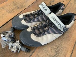 Shimano Pedal Clips And Shoes Size 11.5