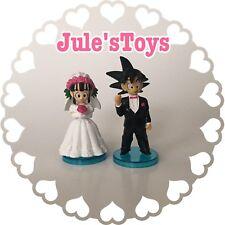 SET OF 2 Custom Dragon Ball Z  GOKU and ChiChi Wedding Cake Topper Figures