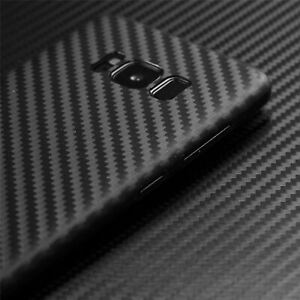 Black Protective Carbon Cover Case For Samsung Galaxy J4 J6 A6 A7 S10