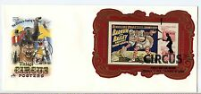 4898-05 Vintage Circus Posters, imperf S/S ArtCraft, FDC
