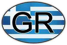 "Greece Country Code Sign Car Bumper Window Sticker Decal 5""X3"""