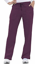 """Healing Hands #9121 Elastic Drawcord Cargo Scrub Pant in """"Wine"""", Size XS"""