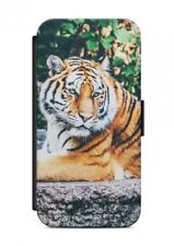 HTC ONE  Tiger Tier Flipcase Tasche Flip Hülle Case Cover Schutz Handy V2