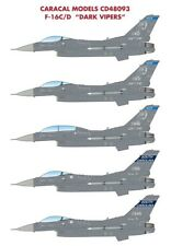 Caracal 1/48 Lockheed-Martin F-16C/D Dark Vipers # 48093