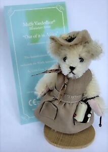 """Sweet North American Bear - Muffy Vanderbear Mohair 3"""" Miniature Out of Africa"""