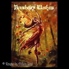 *AUTUMN FAIRY* Anne Stokes Gothic Fantasy Art Blank Birthday Wishes Card