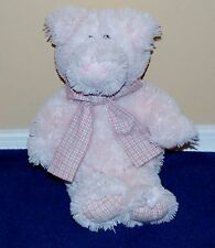 "12"" Light Pink Friendzies Plush Pig Stuffed Animal Plaid Bow 2006"