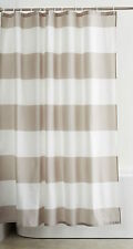 Amazon Basics polyester gray/taupe striped shower curtain 72x72