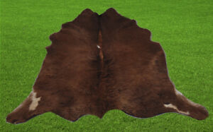 "New Calfhide Rugs Area Calf Skin Leather 9.76 sq.feet (38""x37"") Calf hide U5232"