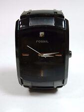 FOSSIL ARKITEKT FS-4159 STAINLESS STEEL BLACK MEN'SWRIST WATCH -NEW BATTERY