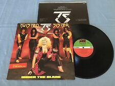 TWISTED SISTER UNDER THE BLADE + INSERT REMIX EDITION RARE 1985 AUSTRALIAN LP