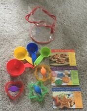 Pampered Chef Kids Cooking Kit #9525 Measuring Cups Cookie Cutters Recipes NEW