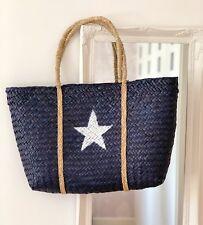 BEACH BAG  BLUE WHITE STAR TOTE  SHOPPER  LARGE SHOULDER BAG HOLIDAY BEACH BAG