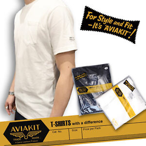 Plain pocket T shirts twin pack by Lewis Leathers Aviakit Cotton 100%