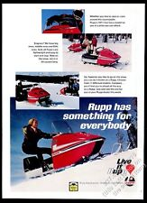 1971 Rupp 440 WT snowmobile photo vintage print ad